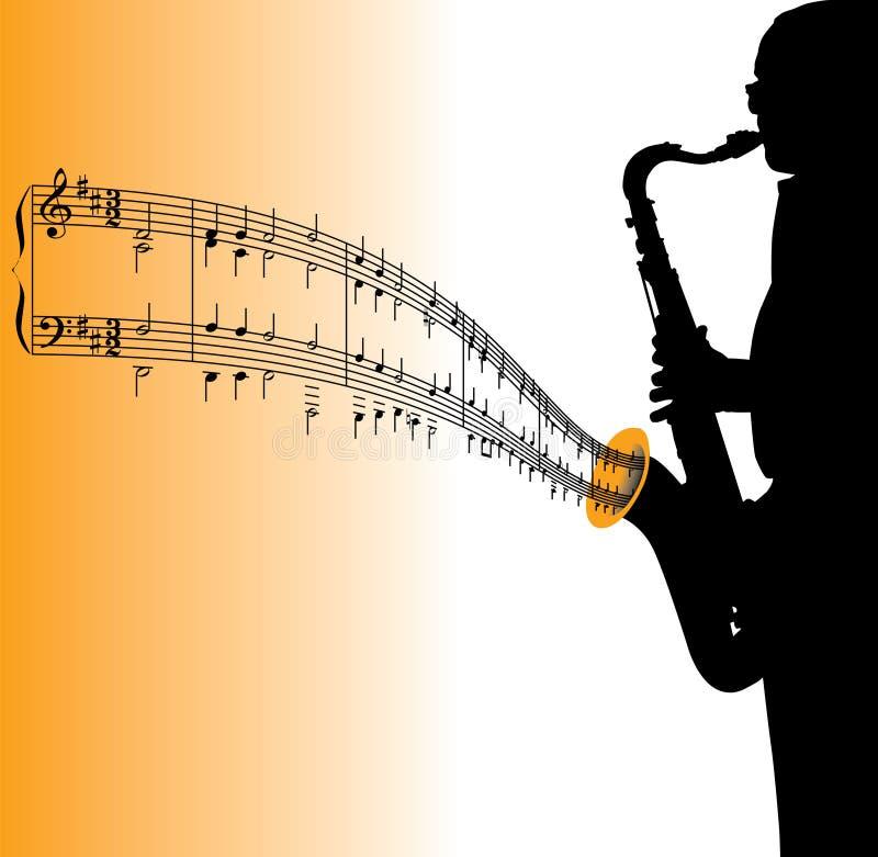 muzyka gra na saksofonie royalty ilustracja