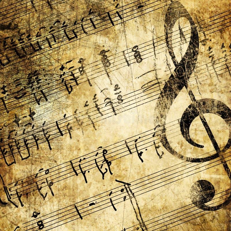Download Muzyka grungy zdjęcie stock. Obraz złożonej z obdarty - 5966986