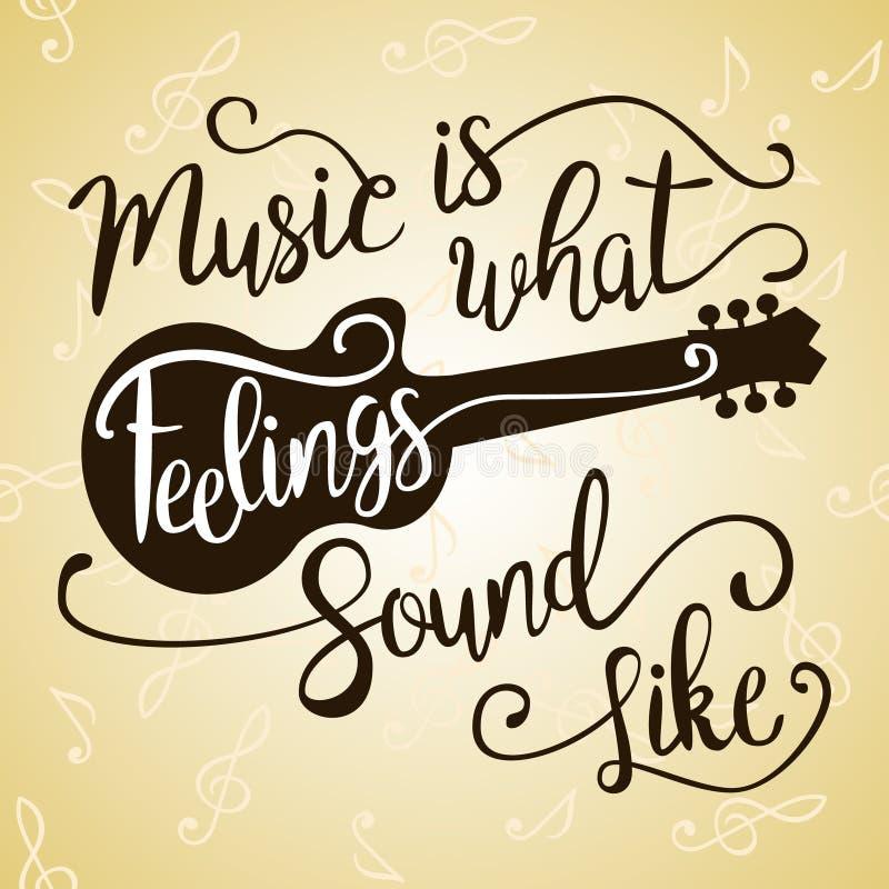 Muzyka Jest Co Jak Brzmią uczucia ilustracja wektor