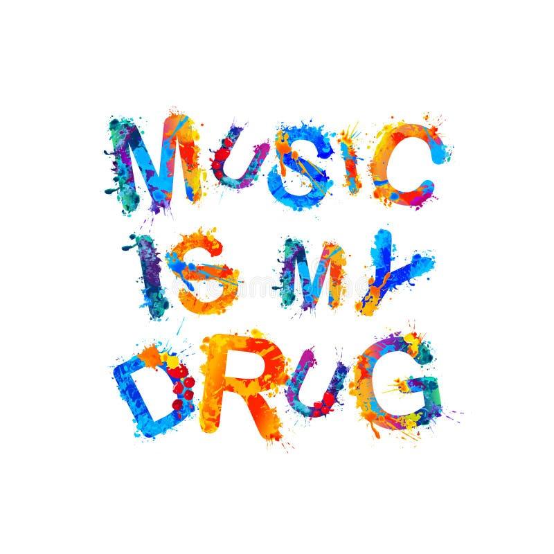 Muzyka jest mój lekiem royalty ilustracja