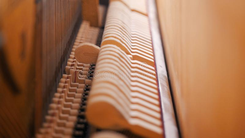 muzyka klasy Chowani szczegóły pianino najlepszy widok hamming zdjęcie stock