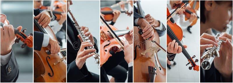 Muzyka klasyczna kolaż zdjęcie stock