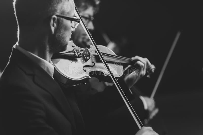 Muzyka klasyczna koncertowy występ fotografia stock