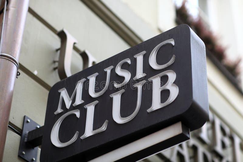 Muzyka klubu znak obraz royalty free