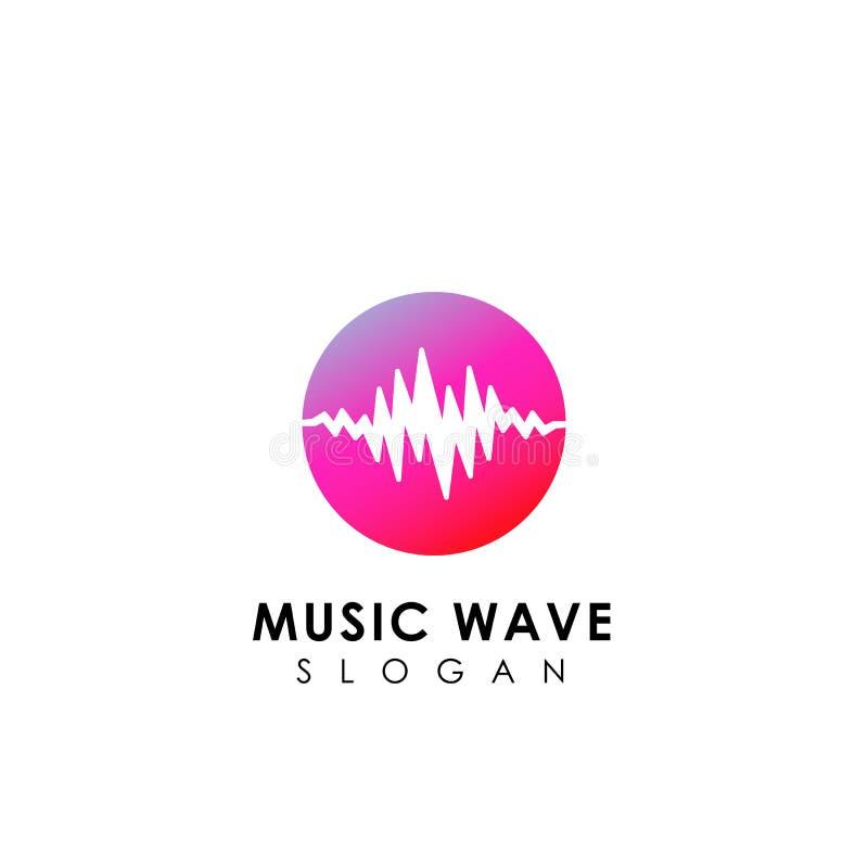 Muzyka loga falowy projekt rozsądnej fala ikony symbolu projekt ilustracja wektor