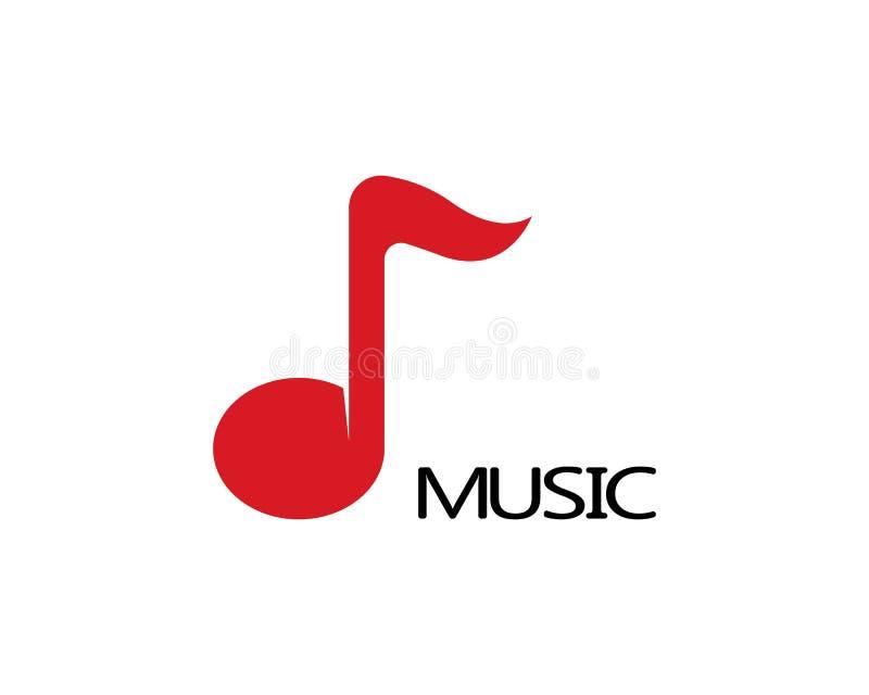 Muzyka logo nutowy wektor ilustracji