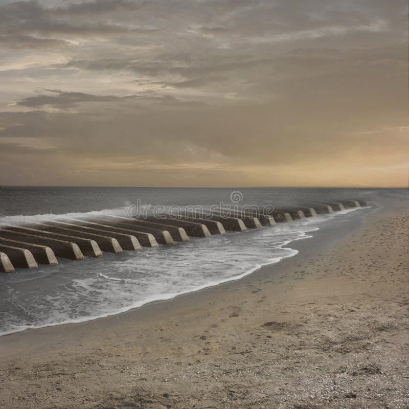Muzyka morze obraz stock