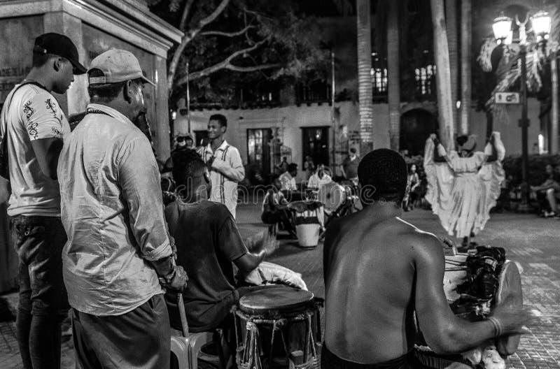 Muzyka na żywo w Cartagena De Indias fotografia stock