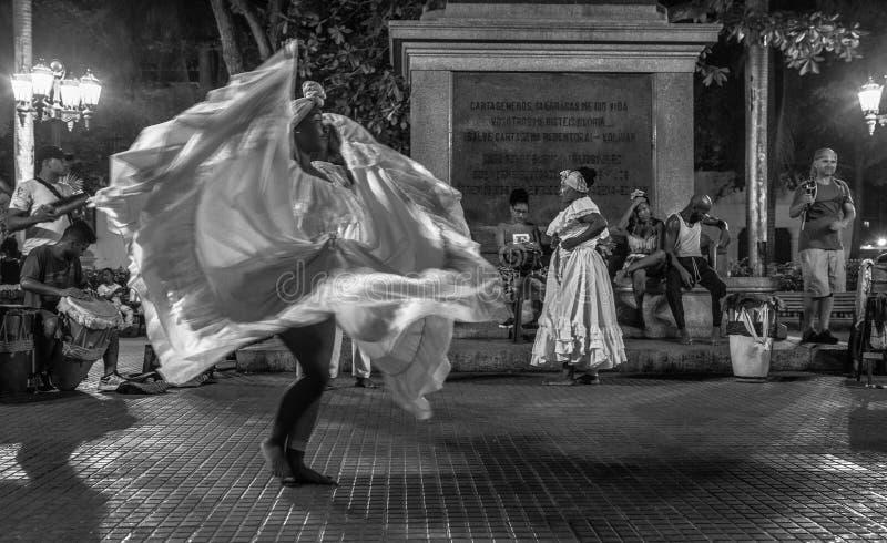 Muzyka na żywo w Cartagena De Indias zdjęcia royalty free