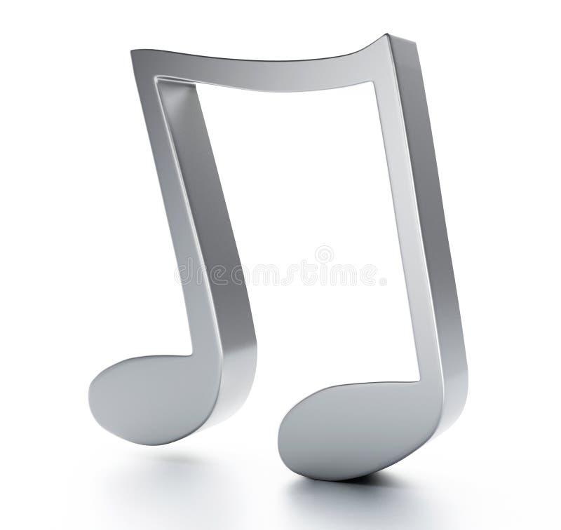 Muzyka nutowy 3D Na białym tle royalty ilustracja