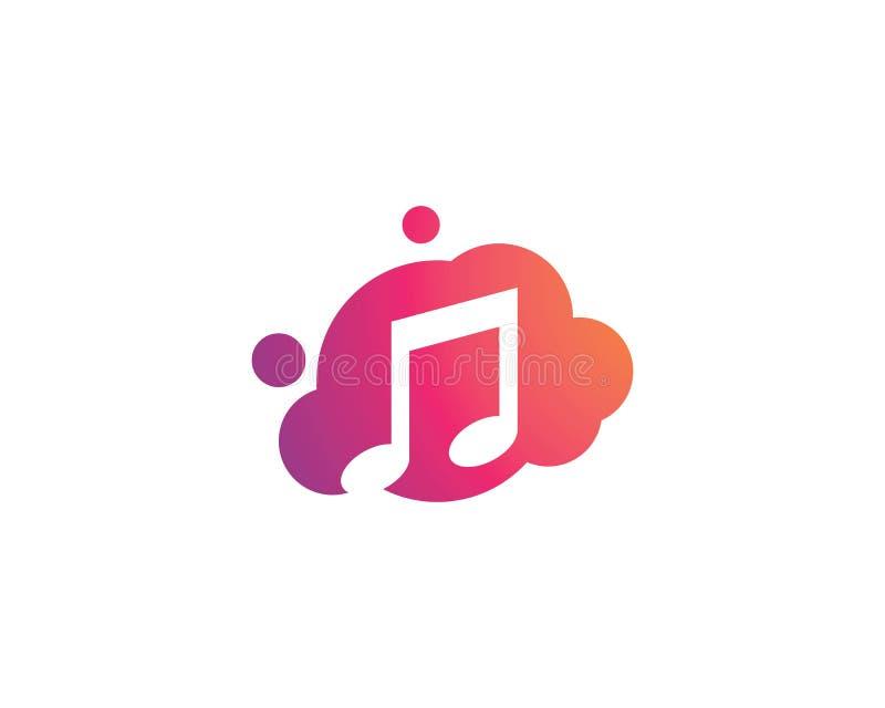 Muzyka nutowy logo ilustracji