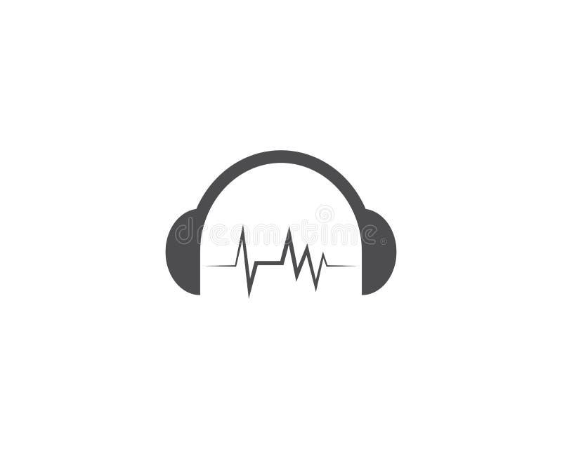 Muzyka nutowy logo royalty ilustracja