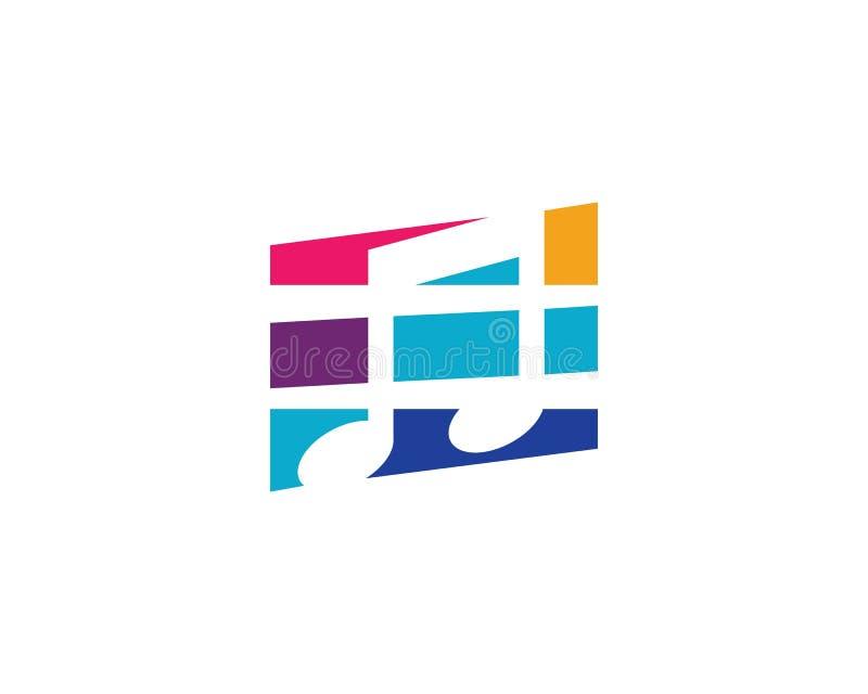 Muzyka nutowy logo ilustracja wektor