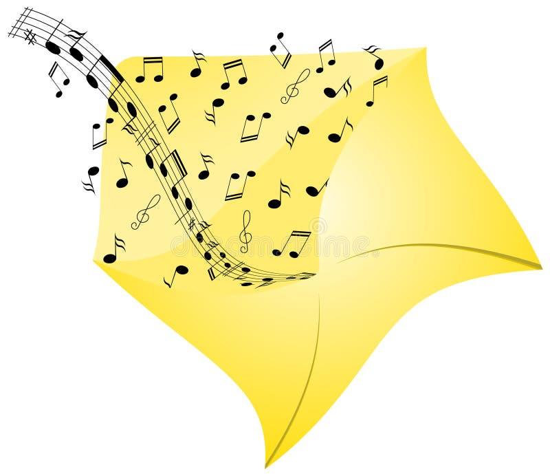 Muzyka od koperty obrazy stock