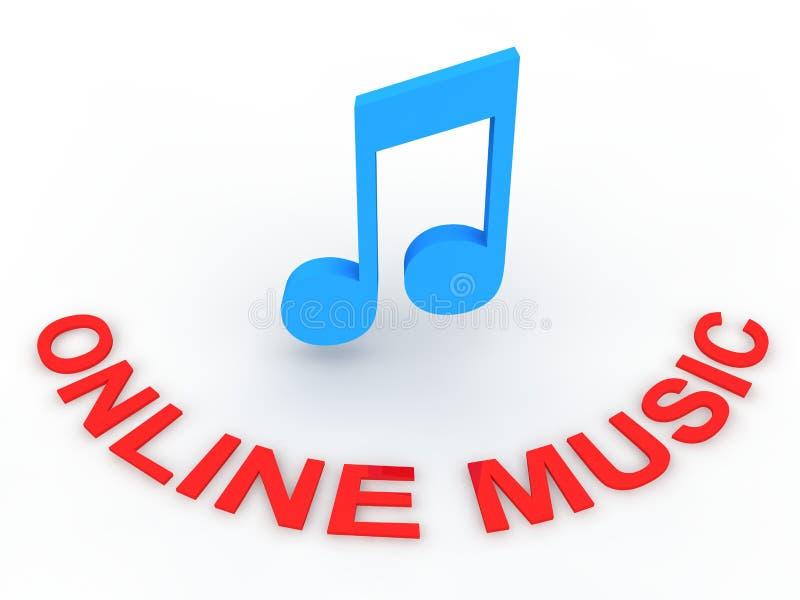 muzyka online ilustracji