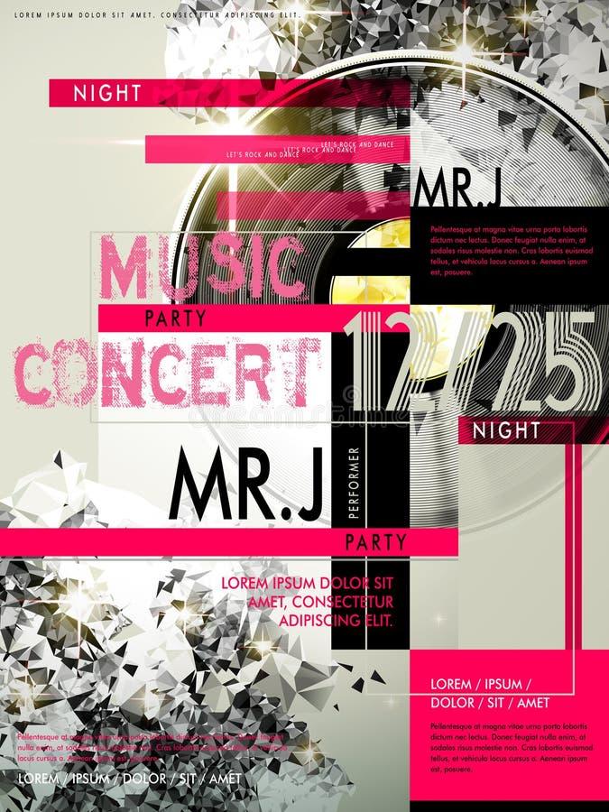 Muzyka partyjny plakat royalty ilustracja