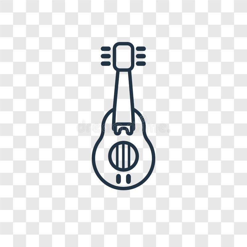Muzyka pojęcia wektorowa liniowa ikona odizolowywająca na przejrzystym plecy royalty ilustracja