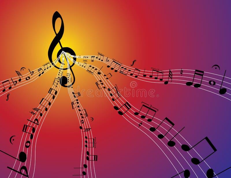 muzyka przepływu royalty ilustracja