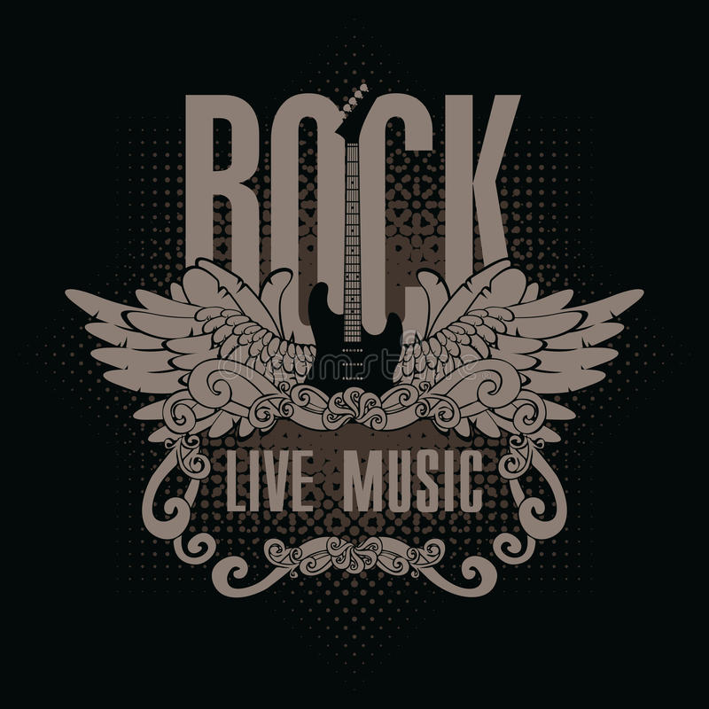 Muzyka rockowa royalty ilustracja