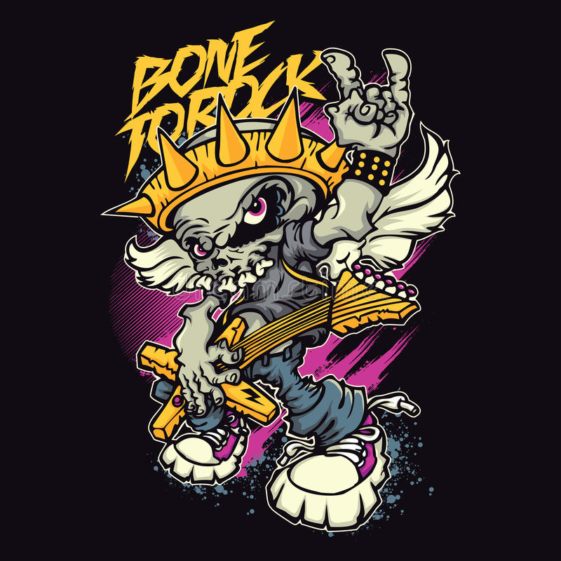 Muzyka Rockowa ilustracji