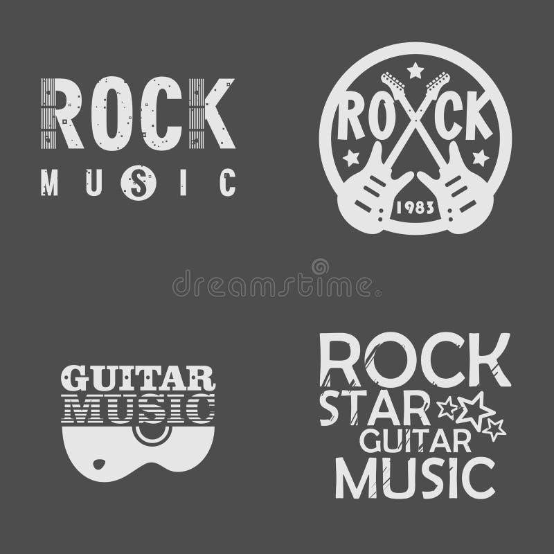 Muzyka Rockowa set royalty ilustracja