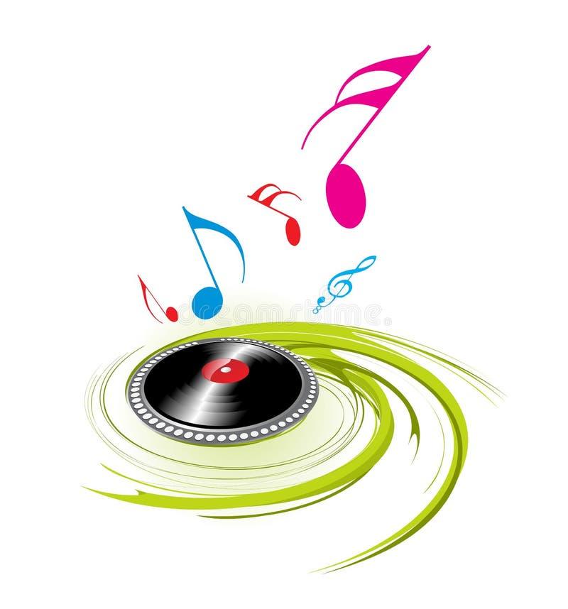 muzyka ruszać się po spirali temat royalty ilustracja