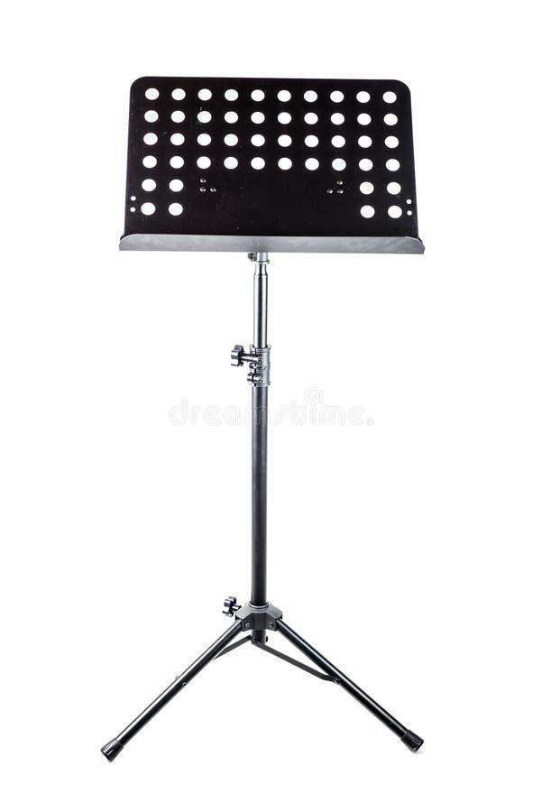Muzyka ` s pulpit, czarny metal na białym tle, fotografia stock