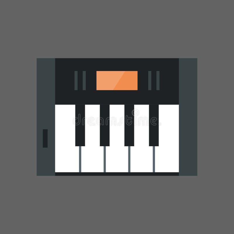 Muzyka Wpisuje ikony Fortepianowej klawiatury Elektronicznego pojęcie ilustracji