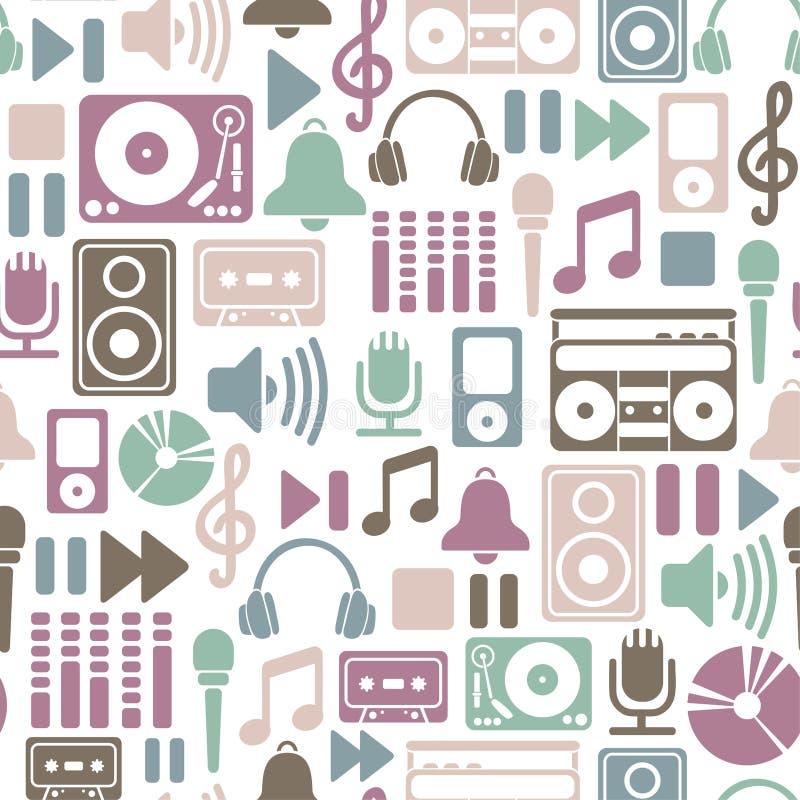Muzyka wzór ilustracja wektor