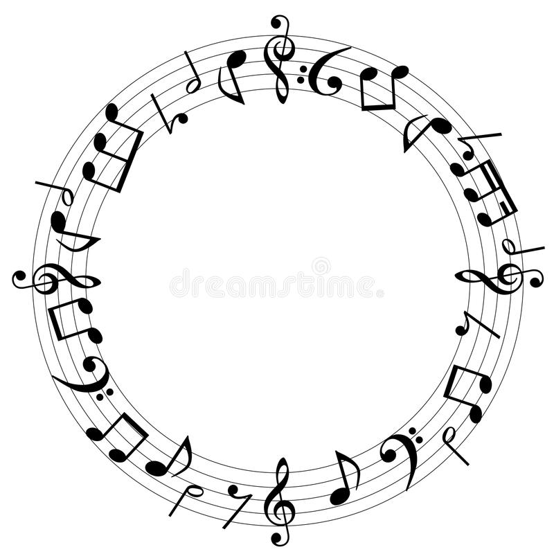 Muzyka zauważa tło royalty ilustracja