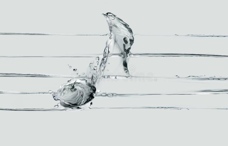 Muzykalna notatka woda i prześcieradło zdjęcia royalty free