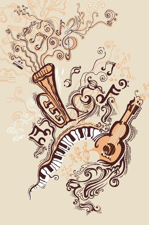Muzykalne ilustracje. obraz stock