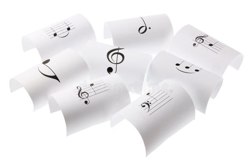 muzykalne notatki obrazy stock