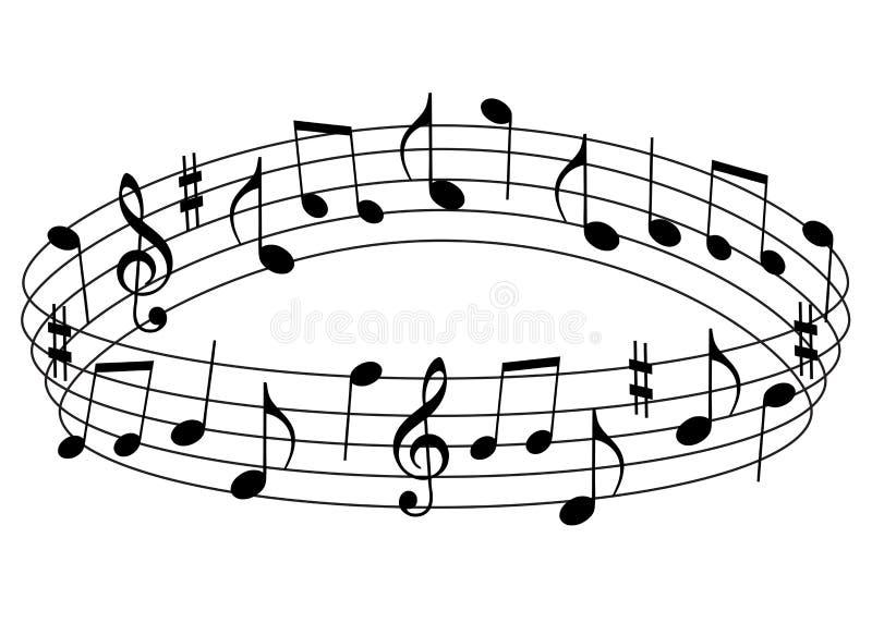 muzykalne notatki ilustracja wektor