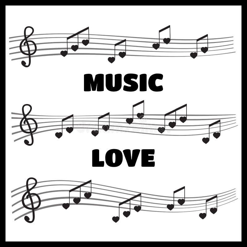 Muzykalne notatki i akordy kierowi royalty ilustracja