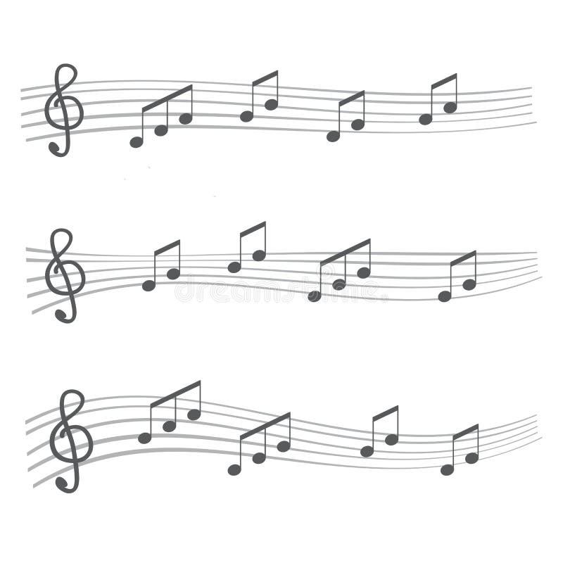 Muzykalne notatki i akordy Muzykalnych notatek kątów zaokrąglający styl ilustracji