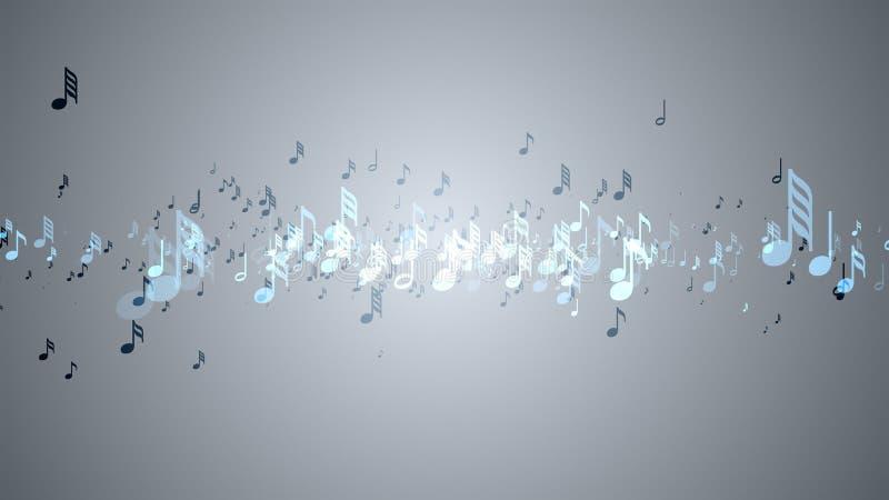 Muzykalne notatki z głębią pole royalty ilustracja