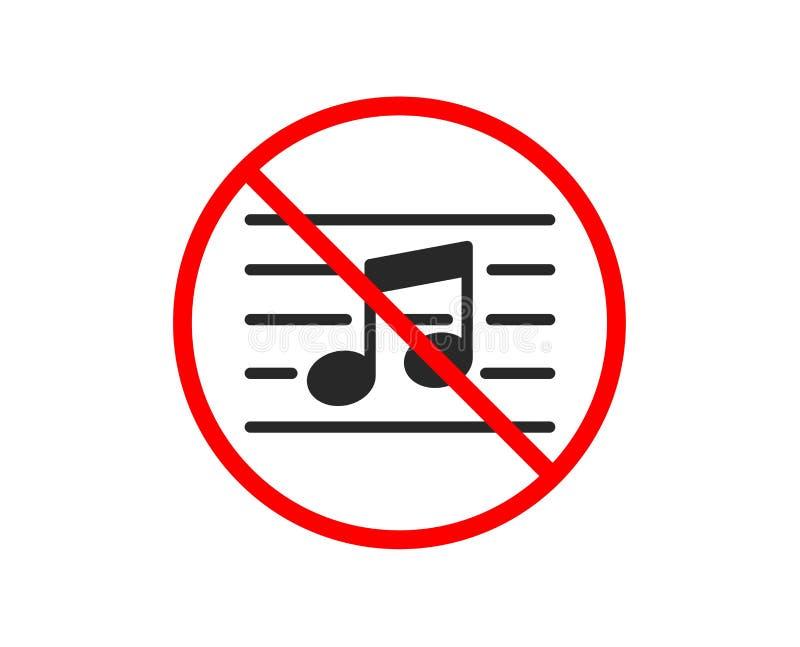 Muzykalnej notatki ikona Muzyka znak wektor royalty ilustracja