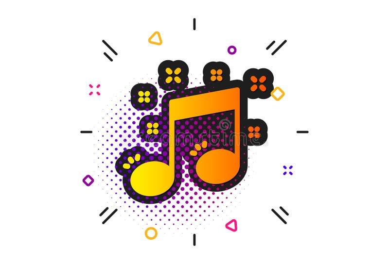 Muzykalnej notatki ikona Muzyka znak wektor ilustracja wektor