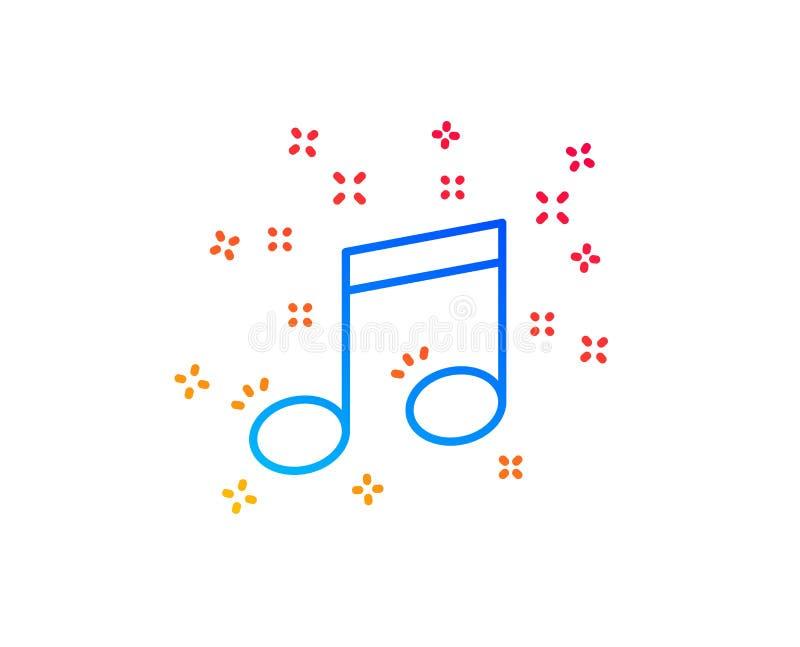 muzykalnej notatki linii ikona Muzyka znak wektor ilustracji
