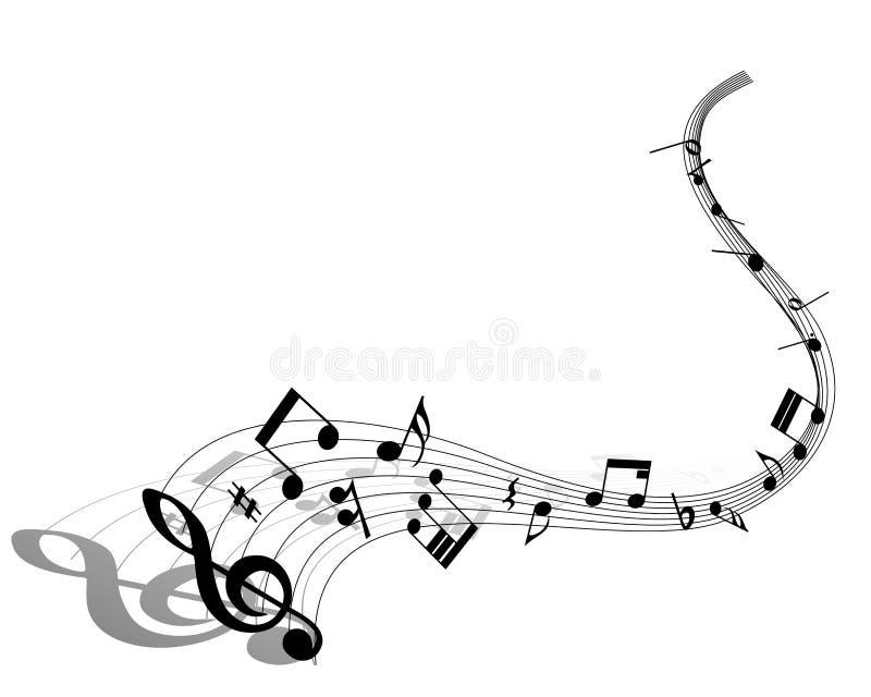 Muzykalnej notatki personel ilustracji