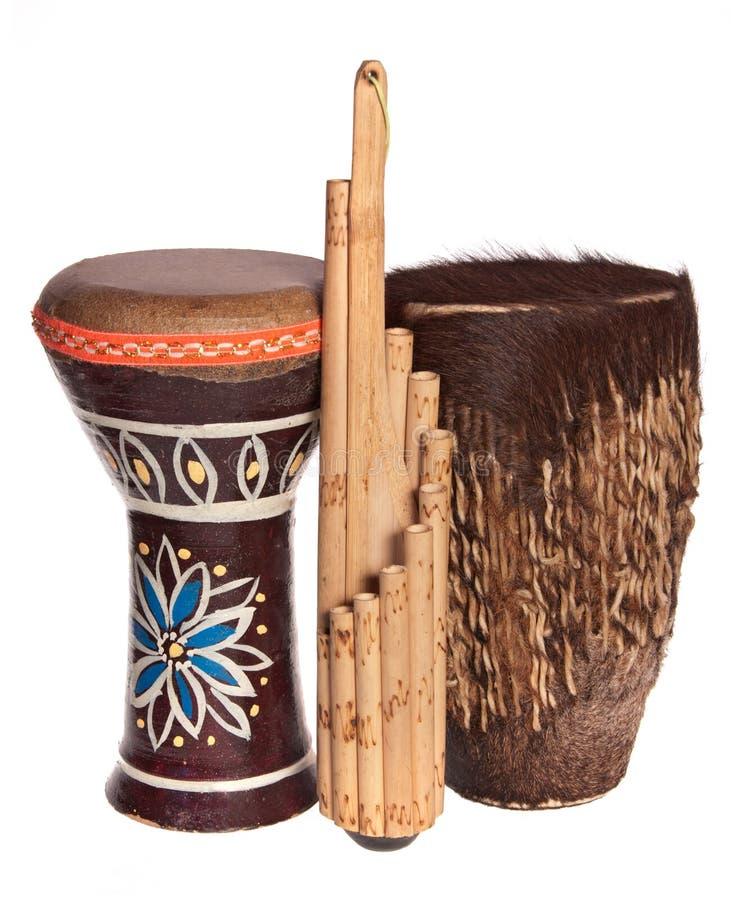 muzykalni afrykańscy etniczni instrumenty obraz royalty free