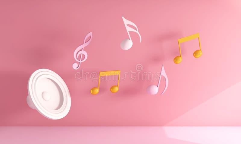 Muzykalni projektów elementy Od muzyki zdjęcia stock