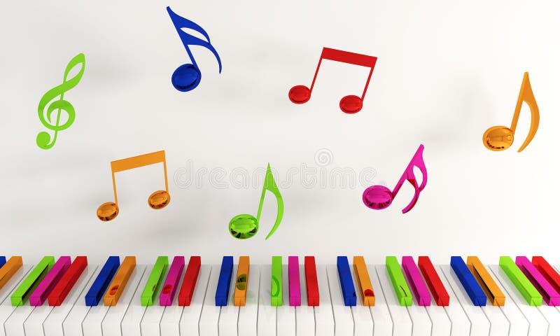 Muzykalni projektów elementy Od muzyki zdjęcia royalty free