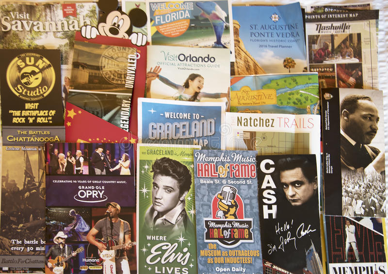 Muzykalny kolaż głębokie południe Ameryka obrazy royalty free