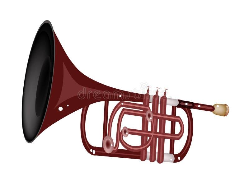 Muzykalny kornet Odizolowywający na Białym tle ilustracji