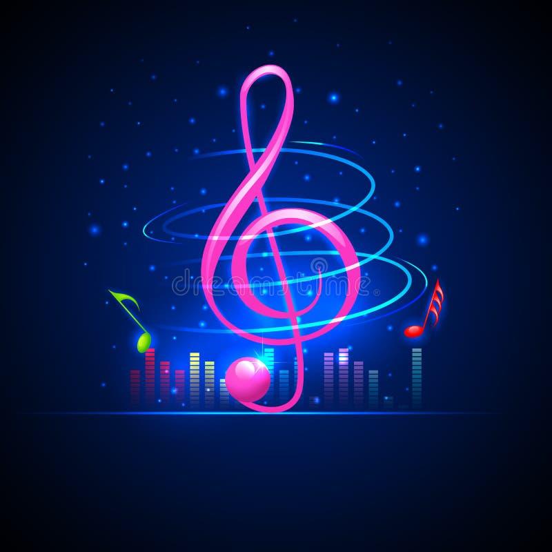 Muzykalny tło royalty ilustracja