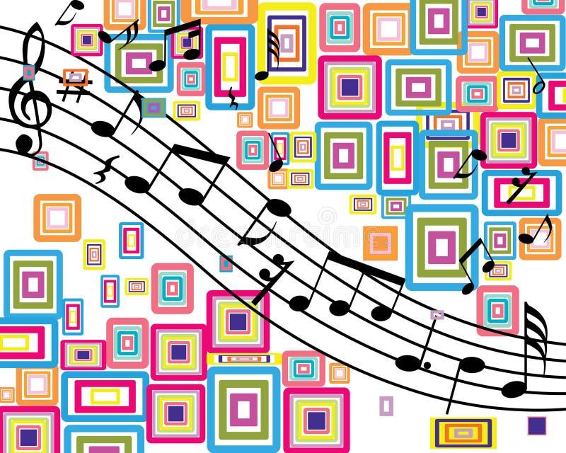 muzykalny tło materiał ilustracji