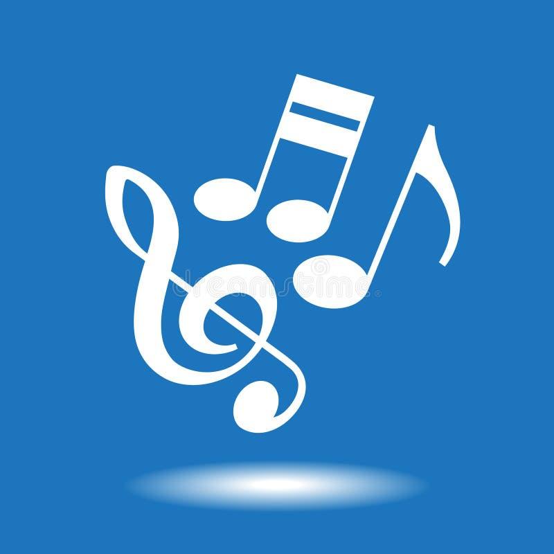 Muzykalnych notatek ikona royalty ilustracja