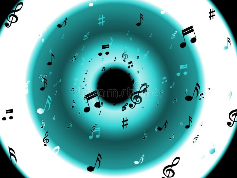 Muzykalnych notatek tło Znaczy Klasycznego royalty ilustracja